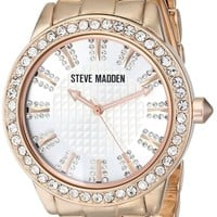 Steve Madden Women's SMW00010-45 Crystal-Accented Watch