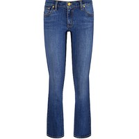 Tory Burch Cropped Straight-leg Jean