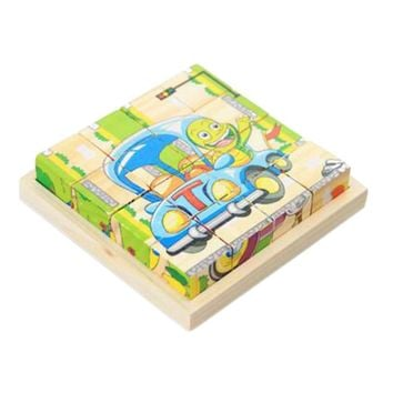 Educational Toy for Kids 3D Wooden Puzzle Jointed Board Cube Puzzle Building Block NO.05