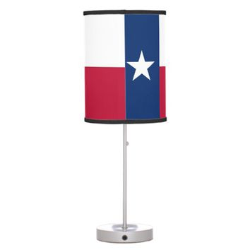 Patriotic table lamp with Flag of Texas