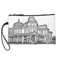 haunted house wristlet clutches
