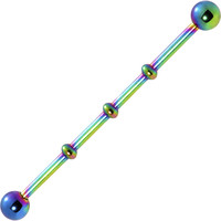 Ball Rainbow Anodized Titanium Industrial Project Bar 40mm