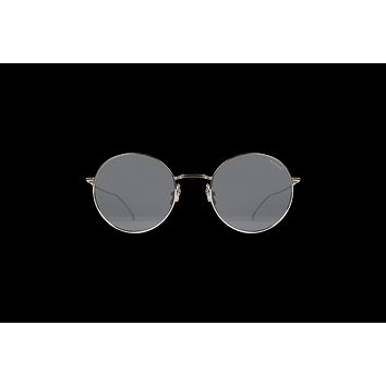 Komono - Yoko Silver Smoke Sunglasses / Solid Smoke Lenses