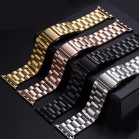 Three Bead Metal Stainless Steel Watch Band for Apple Watch 38mm 42mm