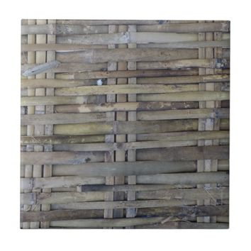 Bamboo wall ceramic tile