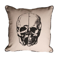 Skull Canvas/Linen Throw Pillow