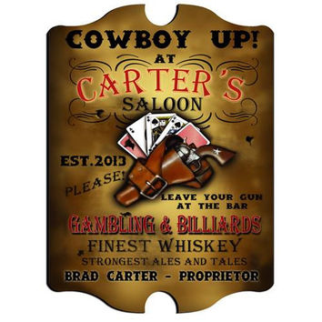 Vintage Series Personalized Signs  - SALOON