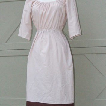 Ivory Peasant Dress, Rustic Wedding Dress with Bell Sleeves xs s m l xl xxl xxxl
