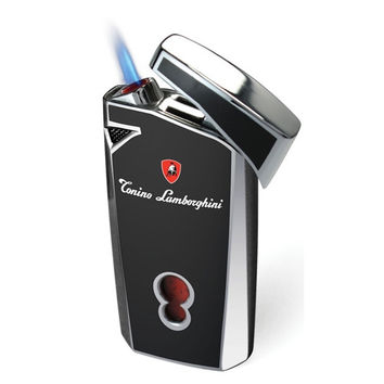 Tonino Lamborghini Magione Black Torch Flame Cigar Lighter