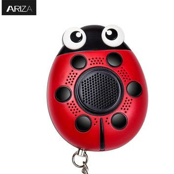 130db self defense Personal Alarm keychain With LED light and mobile speaker Support customized Logo and packaging