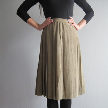 Louis Feraud Skirt silk vintage haute couture high fashion french design luxury brand pleated skirt XS-S