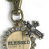 Blessed Inspirations Antiqued Keychain | Mardel