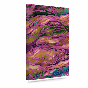 "Ebi Emporium ""Marble Idea! - Light Jewel Tone"" Lavender Pink Canvas Art"