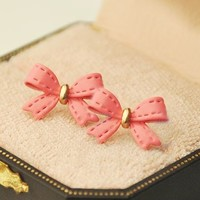 Fashion Bow Leather Earrings