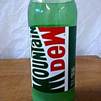 NEW! Mountain Dew Green Glass Bottle Soda Bottle Soy Candle