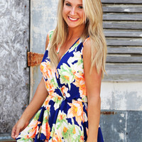 Honolulu Bay Romper {Royal}