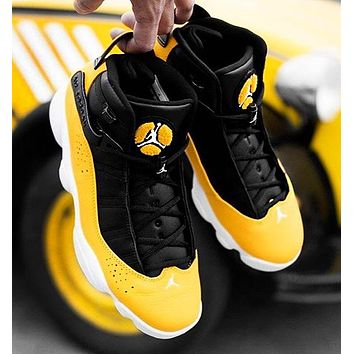 NIKE Air Jordan 13 Retro Fashion New Leisure Running Sports Shoes Yellow