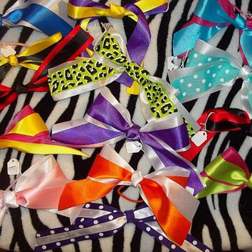Awesome Cheer Bows--School Colors--Baby,Toddler,Teen--Volleyball,Softball,Basketball,Game,Soccer,Sports--Hair,Cute,Trendy,Unique,Team Spirit