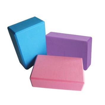 1pc EVA Yoga Block Pilates Pillow Brick Foam Home Stretch Exercise Fitness Gym #XTJ