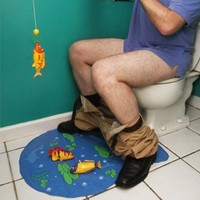 Big Mouth Toys Hook Line And Stinker Toilet Fishing Game