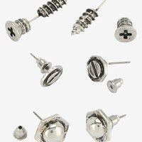 Screws & Bolts Tunnel And Stud Earring Set