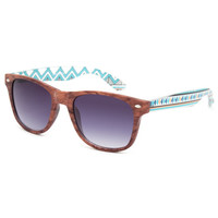 Blue Crown Wood Aztec Sunglasses Wood One Size For Women 25639546101
