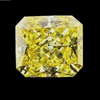 3.5ct Cut Corners Canary Radiant Cut Diamond Veneer Loose Stone