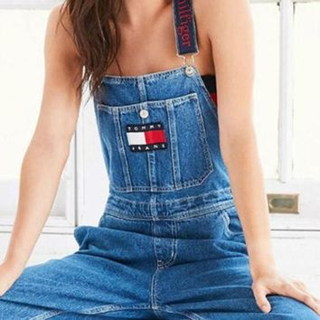 Tommy Jeans women Baggy jeans jeans suspenders pants