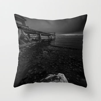 On the wrong side of the lake 6 Throw Pillow by HappyMelvin