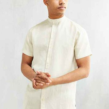 Publish Phialo Linen Short-Sleeve Button-Down Shirt