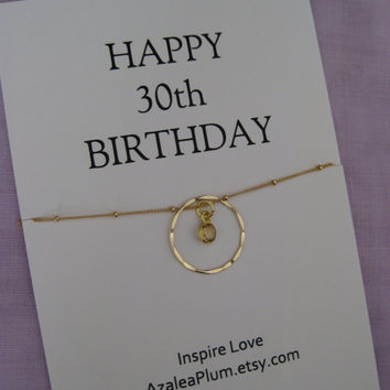 Sisters 30th BIRTHDAY Gift. GOLD Eternity Circle Birthday gift for Mom,  30th Birthday Gift for Her. 3 sister Gift. Best Friend Necklace