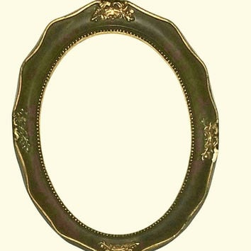 picture frame oval vintage antique ornate fit 6x8