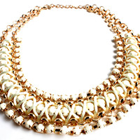 """Good Intentions"" Gold Statement Necklace"