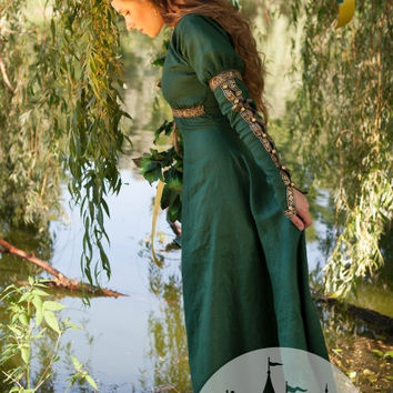 "Medieval Dress Tunic ""Forest Princess"""