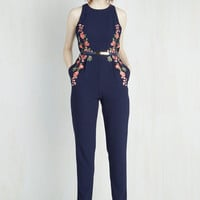 Statement Long Tapered Leg Moxie Posse Jumpsuit