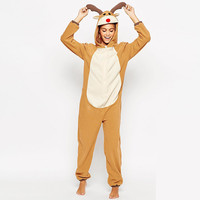 Orange Deer Hooded Costume