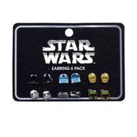 Star Wars Logo & Character 6 Pair Earring Set