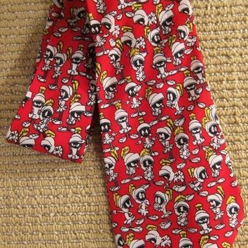 Vintage 1990s Mad For Marvin The Martian + Silk Tie