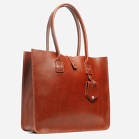 No. 235 Leather Tote, Tan
