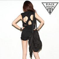 Cut-out Skull Back Tee from Blacksheep