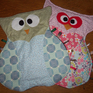 Owl Taggie Blanket/ Play Mat