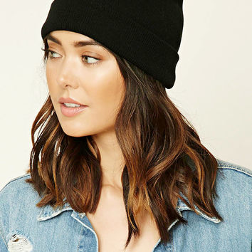 Fold-Over Knit Beanie