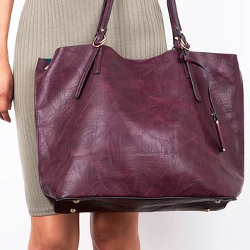 Marbled+Vegan+Leather+Tote