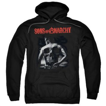SONS OF ANARCHY SKULL BACK Adult Fleece Pull Over Hoodie