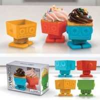 Fred & Friends YUMBOTS Robot Baking Cups, Set of 4
