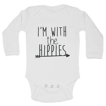 I'm With The Hippies Funny Kids Onesuit