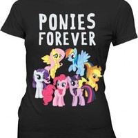 My Little Pony Ponies Forever Juniors Black T-shirt