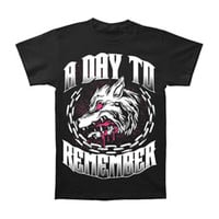 A Day To Remember Men's  Big Wolf T-shirt Black