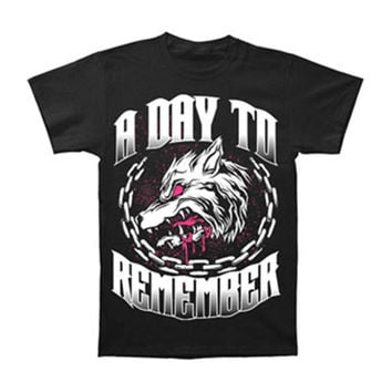 A Day To Remember Men's  Big Wolf T-shirt Black Rockabilia