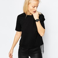 ASOS T-Shirt With Sheer Panel at asos.com
